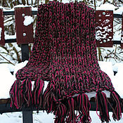 Аксессуары handmade. Livemaster - original item Rock and roll scarf (Burgundy). Handmade.