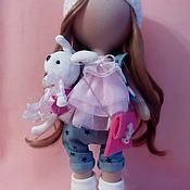 Куклы и игрушки ручной работы. Ярмарка Мастеров - ручная работа Интерьерная текстильная кукла большеножка Алёнка. Handmade.