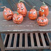 Куклы и игрушки ручной работы. Ярмарка Мастеров - ручная работа Тыква с глазами - коллекционная миниатюра для кукольного дома. Handmade.