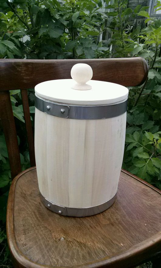 Посуда ручной работы. Ярмарка Мастеров - ручная работа. Купить Бочонок липовый для мёда 5л. Handmade. Бочонок, бочонки