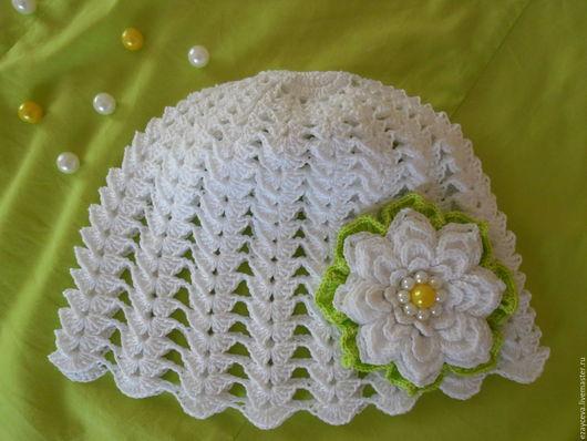 Одежда для девочек, ручной работы. Ярмарка Мастеров - ручная работа. Купить Летняя шапочка для девочки. Handmade. Летняя шапочка