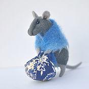 Куклы и игрушки ручной работы. Ярмарка Мастеров - ручная работа игрушка валяная из шерсти Мышка с Узелком. Handmade.