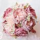 Свадебные цветы ручной работы. Ярмарка Мастеров - ручная работа. Купить Свадебный букет в стиле Шебби-Шик. Handmade. Розовый