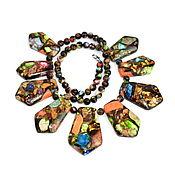Украшения handmade. Livemaster - original item Beautiful multi-colored necklace made of natural variscite. Handmade.