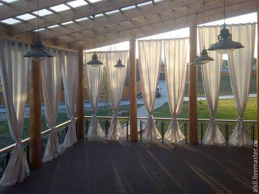 Текстиль, ковры ручной работы. Ярмарка Мастеров - ручная работа. Купить Шторы для веранды. Handmade. Шторы, дизайн штор, лён