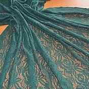 """Кружево ручной работы. Ярмарка Мастеров - ручная работа Кружево темно-зеленое """"A.MARRAS"""", Италия. Handmade."""