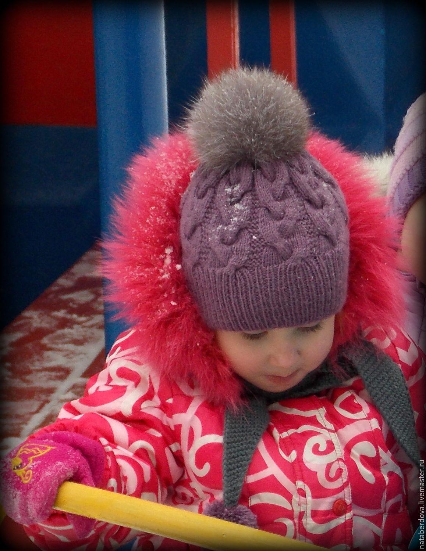 Шарф и шапка для девочки спицами. Работы Тамары Матус 34
