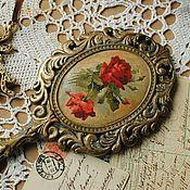 Для дома и интерьера ручной работы. Ярмарка Мастеров - ручная работа Зеркало Красные розы Подарок девушке. Handmade.