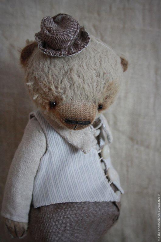 Мишки Тедди ручной работы. Ярмарка Мастеров - ручная работа. Купить Эрнест. Handmade. Бежевый, мишка джентельмен, опилки древесные