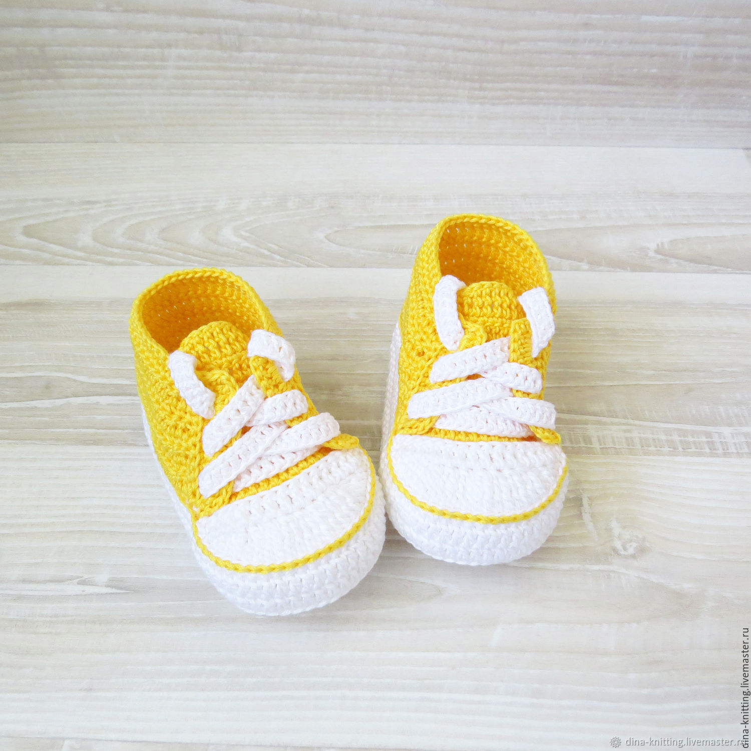 Booties sneakers knitted sneakers for girls yellow, Booties, Cheboksary,  Фото №1