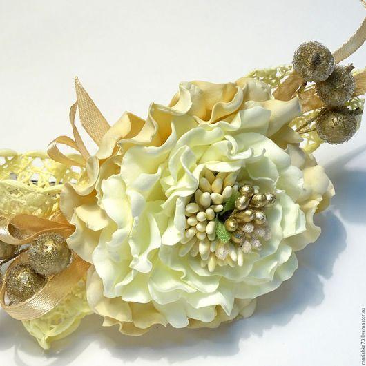 Заколки ручной работы. Ярмарка Мастеров - ручная работа. Купить заколка с фантазийным цветком из фоамирана. Handmade. Комбинированный, заколка с цветами
