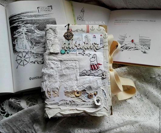 """Блокноты ручной работы. Ярмарка Мастеров - ручная работа. Купить Блокнот (moomin book)  """"Муми-Мама и море"""". Handmade. мумитролли"""