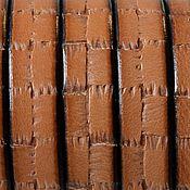 Материалы для творчества ручной работы. Ярмарка Мастеров - ручная работа Кожаный шнур плоский 10 мм коричневый. Handmade.