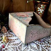 """Для дома и интерьера ручной работы. Ярмарка Мастеров - ручная работа """"Царица цветов""""салфетница. Handmade."""