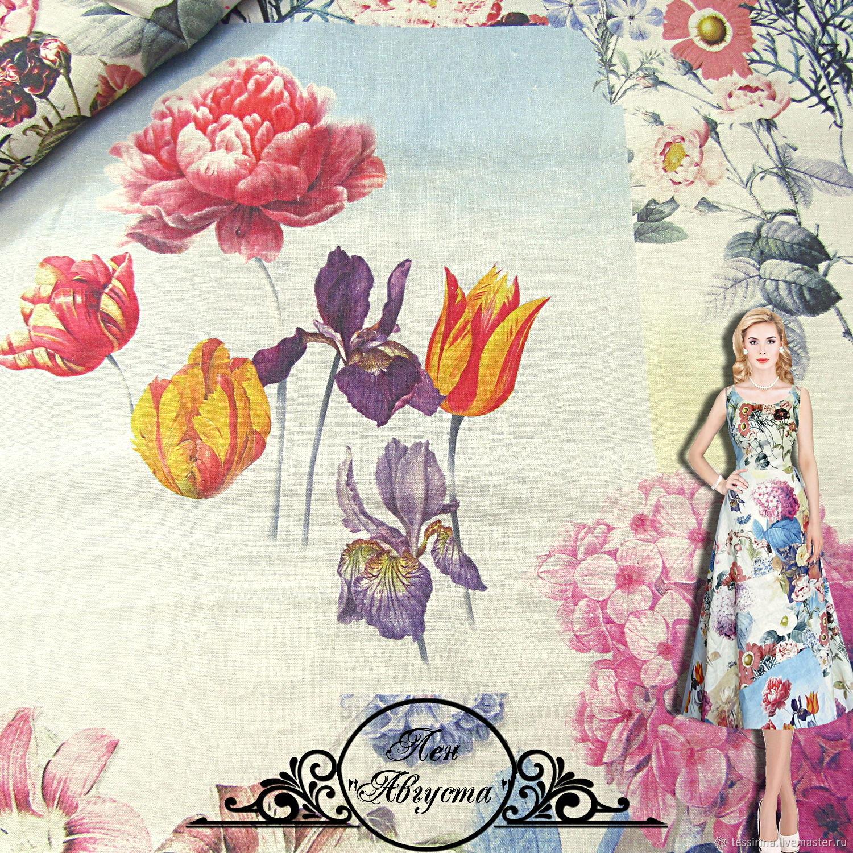 """Лен Blumarine """"Августа"""" итальянские ткани, Fabric, Sochi,  Фото №1"""