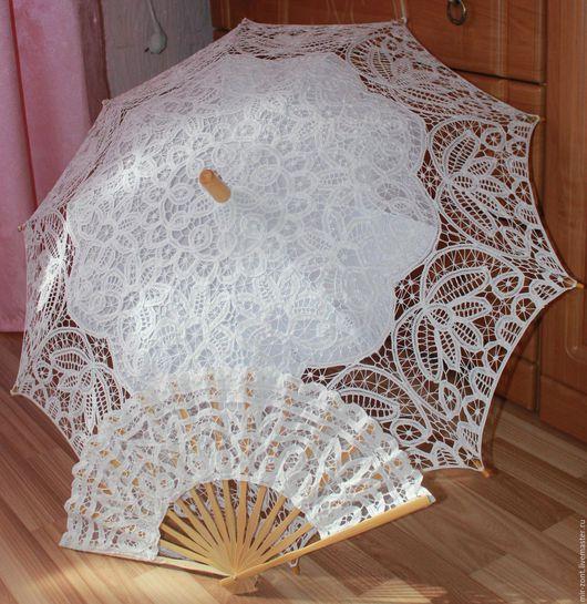 Кружевной зонт от солнца.