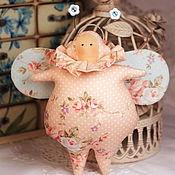 Куклы и игрушки ручной работы. Ярмарка Мастеров - ручная работа Тильда жучок весенний розовый. Handmade.