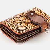 Сумки и аксессуары handmade. Livemaster - original item Wallet with engraved Sheridan under jeans. Handmade.