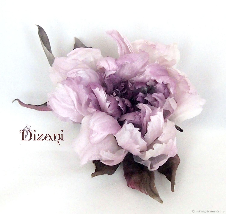 Пион шелковый. цветы из шелка. цветы из ткани, Цветы, Москва,  Фото №1