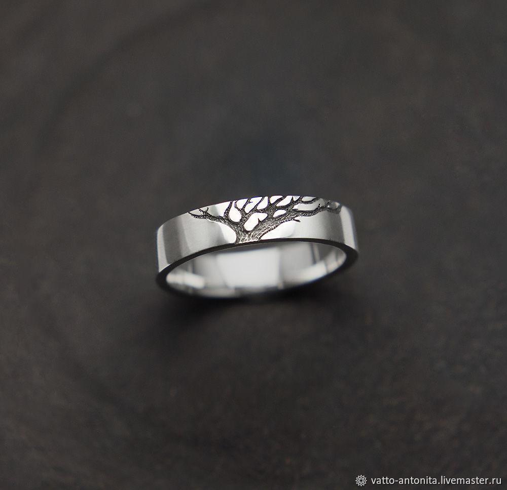 Свадебные украшения ручной работы. Ярмарка Мастеров - ручная работа. Купить  Обручальное кольцо из серебра ... 2ac2301b463