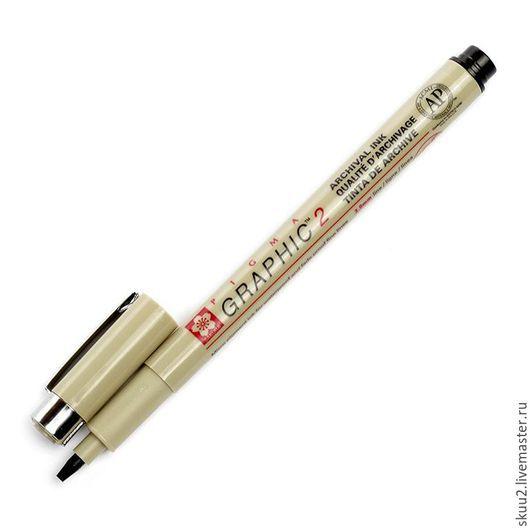Открытки и скрапбукинг ручной работы. Ярмарка Мастеров - ручная работа. Купить Линер-маркер для подписи PIGMA GRAPHIC2 черный 2 мм. Handmade.