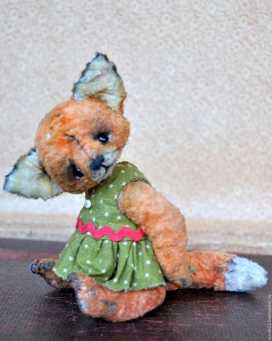 Мишки Тедди ручной работы. Ярмарка Мастеров - ручная работа. Купить Майя. Handmade. Лиса, оранжевый, винтажный плюш