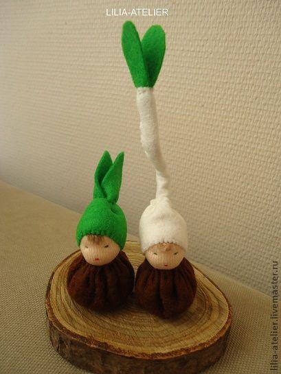 Вальдорфская игрушка ручной работы. Ярмарка Мастеров - ручная работа. Купить Луковички - вальдорфские куколки. Handmade. Вальдорфская игрушка