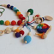"Одежда handmade. Livemaster - original item Slingobusy rattle toy "" Rainbow snail"". Handmade."