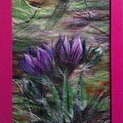 """Картины и панно ручной работы. Ярмарка Мастеров - ручная работа картина из шерсти """" Сон трава""""(2). Handmade."""