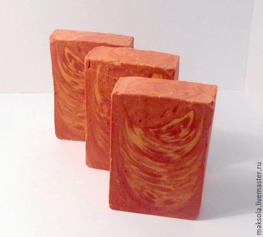 """Мыло ручной работы. Ярмарка Мастеров - ручная работа. Купить Натуральное мыло """"Рябина"""". Handmade. Рыжий, мыло ручной работы"""