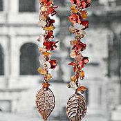 """Украшения ручной работы. Ярмарка Мастеров - ручная работа Серьги """"Загадочный октябрь"""". Handmade."""