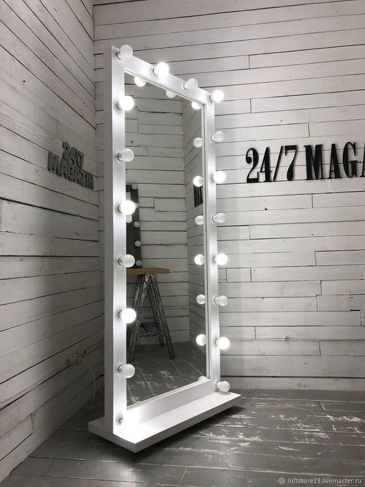 Новый год 2017 ручной работы. Ярмарка Мастеров - ручная работа. Купить Гримерное зеркало FANTOM.. Handmade. Белый, зеркало с лампочками