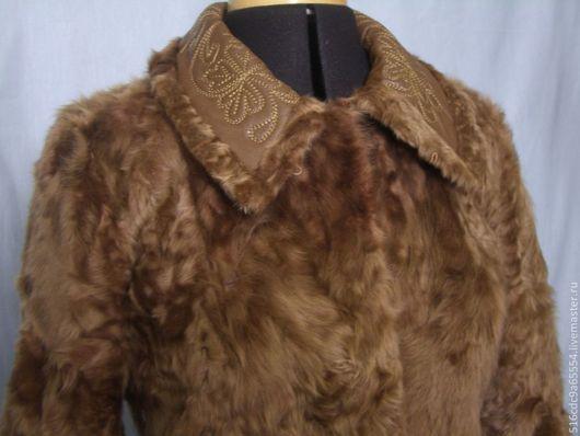 Верхняя одежда ручной работы. Ярмарка Мастеров - ручная работа. Купить Шубка. Handmade. Бежевый, полушубок, тиацин, пальто женское