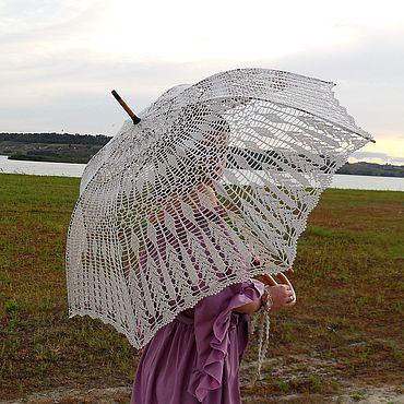 Аксессуары ручной работы. Ярмарка Мастеров - ручная работа Ажурный зонтик-трость №7. Handmade.