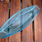 Винтаж handmade. Livemaster - original item Seledochnitsy vintage Soviet turquoise glass. Handmade.