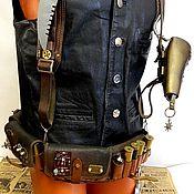 "handmade. Livemaster - original item ""THE VICTORIAN SOLDIER"" КОЖА,ФУРНИТУРА. Handmade."