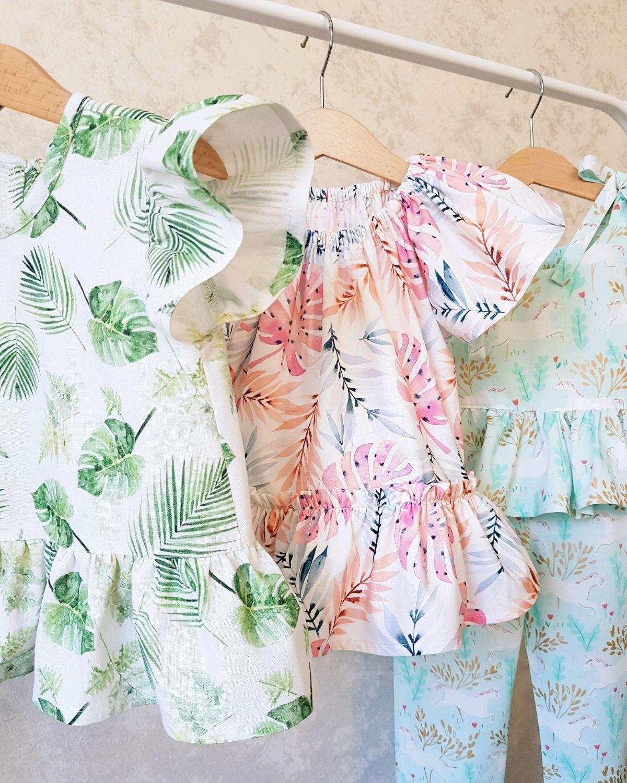 Детская летняя одежда из натуральных тканей