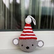 Мягкие игрушки ручной работы. Ярмарка Мастеров - ручная работа Елочная игрушка Мышонок. Handmade.