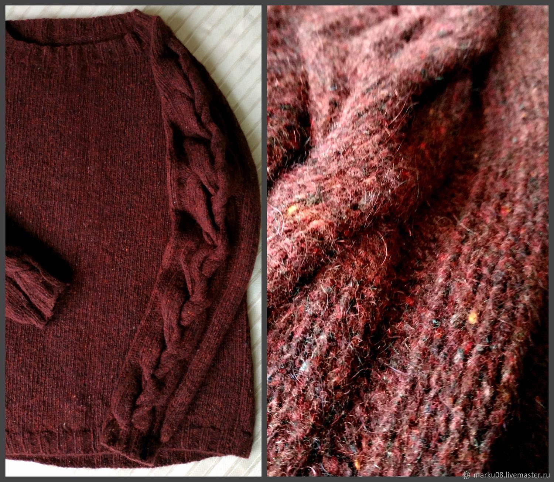 Sweater Jackets & Sweaters handmade. Livemaster - handmade. Buy Jumper cherry Italian tweed warm.Oversized, soft jumper