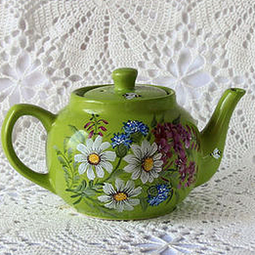 Tableware handmade. Livemaster - original item Ceramic teapot with painted