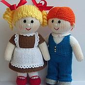 """Куклы и игрушки ручной работы. Ярмарка Мастеров - ручная работа """"Школьные друзья"""" вязаные куклы. Handmade."""