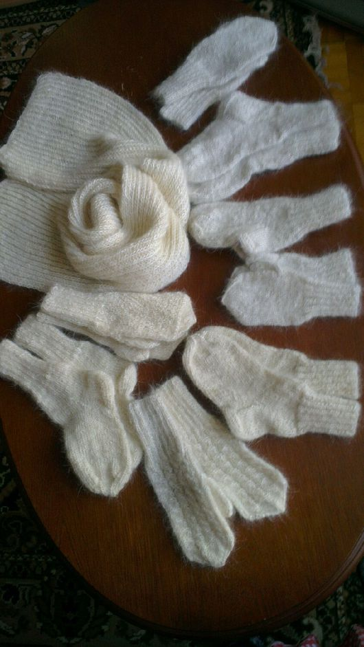 Носки, Чулки ручной работы. Ярмарка Мастеров - ручная работа. Купить детские носочки пуховые. Handmade. Темно-серый