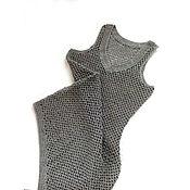Одежда ручной работы. Ярмарка Мастеров - ручная работа Вязаная льняная туника. Handmade.