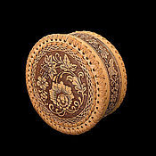 Для дома и интерьера handmade. Livemaster - original item Box of birch bark round