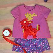 """Работы для детей, ручной работы. Ярмарка Мастеров - ручная работа Летний костюм """"Олененок"""". Handmade."""