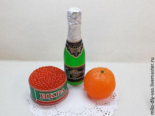 Набор мыла Новогодний с шампанским, Праздничный набор мыла в упаковке, мыло ручной работы. Новогодний подарочный набор купить.