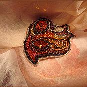 Украшения ручной работы. Ярмарка Мастеров - ручная работа Брошь Видение огня, вышивка бисером. Handmade.