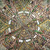 Картины и панно handmade. Livemaster - original item Dish Aztec. Handmade.