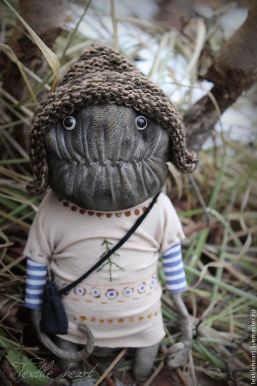 Куклы и игрушки ручной работы. Ярмарка Мастеров - ручная работа. Купить Woody.... Handmade. Коричневый, монстры, авторская кукла, текстиль
