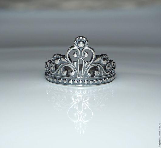 """Кольца ручной работы. Ярмарка Мастеров - ручная работа. Купить Кольцо """"Корона для принцессы"""" серебро 925 пробы. Handmade."""